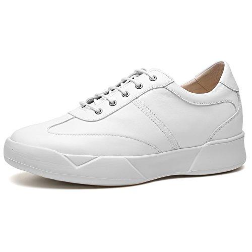 CHAMARIPA Aufzug Schuhe Männer Höhe Zunehmende Leder Sport Sneaker Casual Heben Unsichtbare Ferse Schuhe Teller 2,76 inch-H72C11K272D