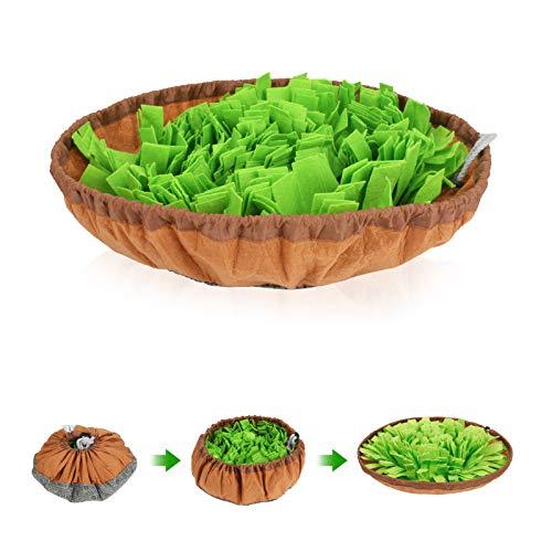 Welltop Schnüffelteppich Hund, Intelligenzspielzeug für Hunde, Snuffle Mat für Hunde, Trainingsmatte für Haustier Hunde Schnüffelspielzeug für langsames Füttern, Druckentlastung, Tragbar und Waschbar