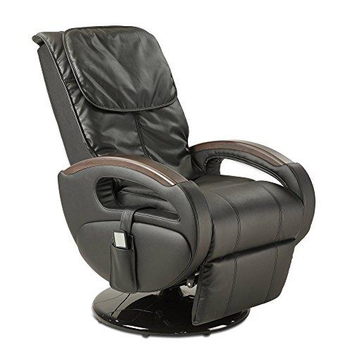 maxVitalis Massagesessel Shiatsu-Massage, Relaxsessel mit Liegefunktion + Massagefunktion, elektrisch verstellbar, Drehbar, 6 Massageprogramme, Körperscan (Schwarz)