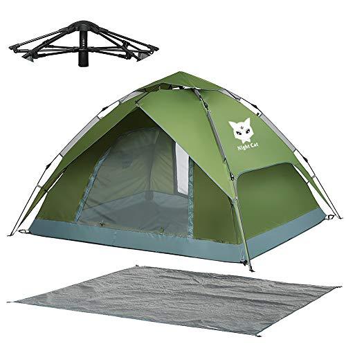 Night Cat Zelt 2 3 Personen Mann Wasserdicht wurfzelt Camping Atmungsaktiv Einfache Einrichtung für draussen Wandern Pop Up Zelt