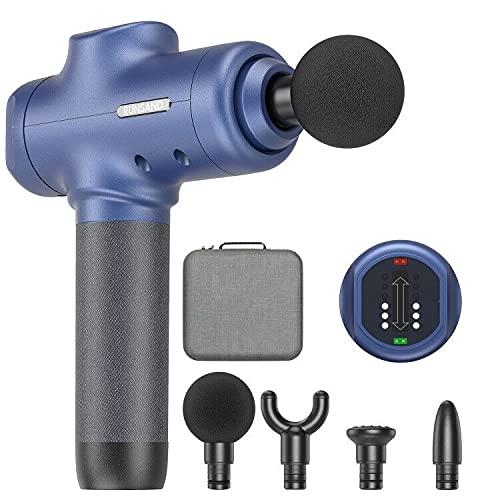 Runsand Massagepistole, Massagepistole Deep Tissue, Handmuskel massagegerät, leistungsstarke elektrische Massagepistole zur Linderung von Muskelverspannungen (blau)
