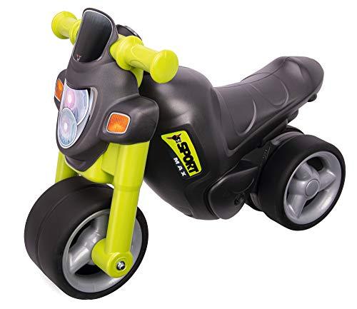 BIG-Sport-Bike Green - Kinder-Laufrad, Räder aus Premium-Softmaterial, realistischer Motorradsound (elektronisch), bis 25 kg belastbar, für Kinder ab 1,5 Jahr