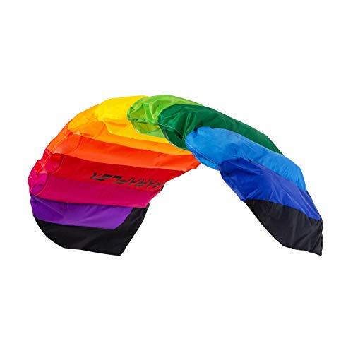 Wolkenstürmer Paraflex Basic 1.7 Lenkmatte, Regenbogen - 2-Leiner Kite für Anfänger