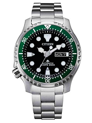 CITIZEN Herren Analog Automatik Uhr mit Edelstahl Armband NY0084-89EE