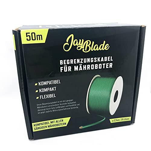 JayBlade 50m Begrenzungskabel Ø2,7mm für Mähroboter - Suchkabel - Begrenzungsdraht - kompatibel mit GARDENA EINHELL KRESS HUSQVARNA WORX HONDA ROBOMOW McCulloch YARD FORCE Landxcape