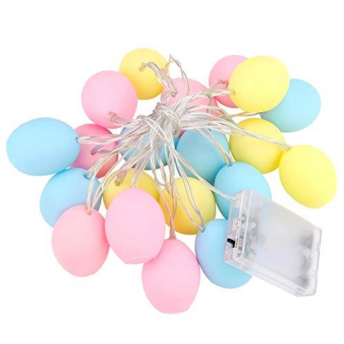 20 LED Easter Egg String Lights,3M String Lights Batteriebetriebene Easter Lights Batteriebetriebene Pastelllichter für Ostern,Easter Egg Fun Lights für Teen Room,Party,Home Decorations