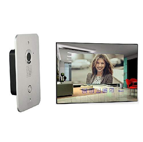 MATHFEL 2 Draht Video Türsprechanlage Gegensprechanlage Video mit 7'' LCD Monitor (Spiegel)