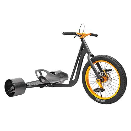 Triad Notorious 4 Drift Trike matt schwarz/orange - DRIFTWERK Edition inkl. Sitzpad