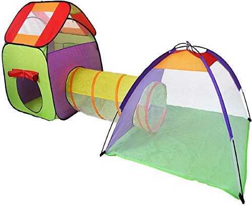 anagre Spielzelt Faltbar Spielhaus Draußen Krabbeltunnel Zimmerzelt Spielhaus Mehrfarbig Tasche Für Drinnen Draußen Garten