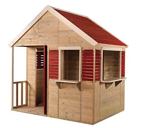 Wendi Toys Kinderspielhaus Krokodil Gartenhaus inkl. Fenster & Veranda
