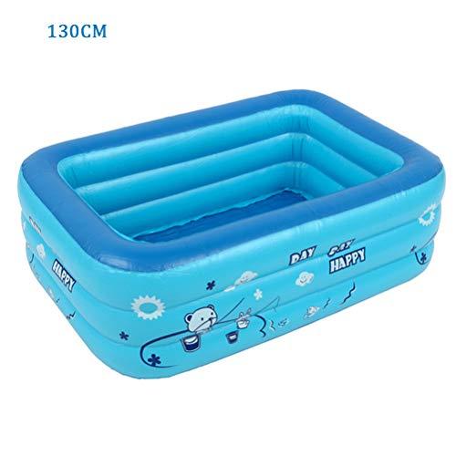 Fangteke 120/130 cm aufblasbarer Kinderpool, Badewanne für Kinder, Planschbecken für den Heimgebrauch, aufblasbarer rechteckiger Pool