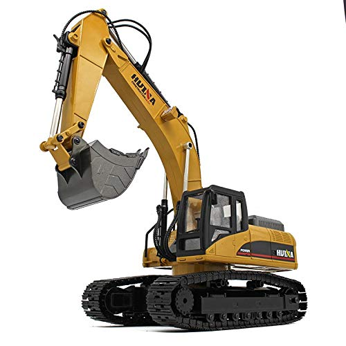 s-idee® 18143 Vollmetall Bagger V4 Version 1:14 23 Kanal mit Rauch und Sound Huina 1580 580 Metallbagger