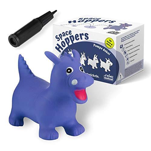 all Kids United® Hüpftier Sprungpferd - Hüpfpferd Sprungtier + Pumpe (Drache)