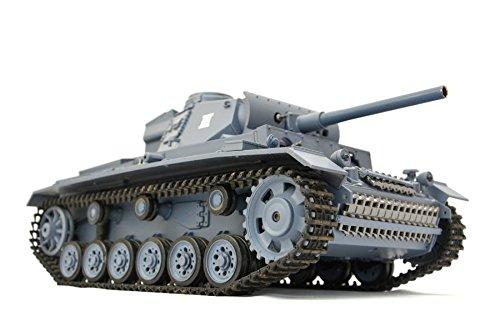RC Panzer 'Kampfwagen III' 1:16 Heng Long -Rauch&Sound - mit Stahlgetriebe und 2,4Ghz Fernsteuerung - V6.0