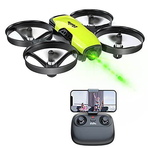 Loolinn   Drohne mit Kamera als Geschenk für Kinder - Mini Drohne Ferngesteuert, First Person View Kameradrohnen (FPV) mit Video & Fotos / 21 Minuten Flugzeit ( DREI Batterien Mitgeliefert)