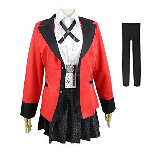 FINDPITAYA Kostüme Jabami Yumeko Uniform Schule Halloween Weihnachten Party Erwachsene Cosplay (M)