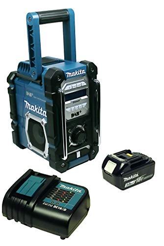 Makita DMR 112 Baustellenradio mit DAB+ und Bluetooth + Akku 3 Ah und Ladegerät