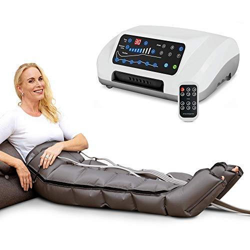 Venen Engel ® 6 Premium Massage-Gerät mit Hosenmanschette, 6 deaktivierbare Luftkammern, Druck & Zeit unkompliziert einstellbar, 6 Massage-Programme, ununterbrochene Massage (mit Hosenmanschetten)