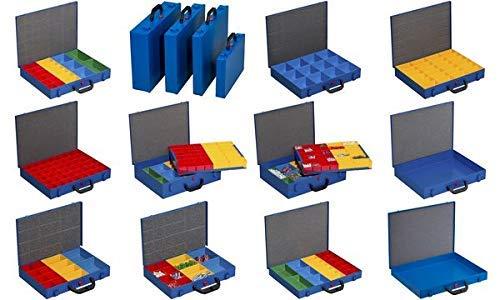 Kleinteilekoffer, Stahlblech, EuroPlus Metall 44/23x63, blau, 23 Einsätze, dicht schließend