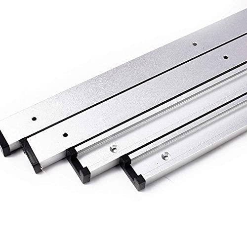 4 Stück T Nut Schiene 1220mm T Track Aluminiumlegierung T Schiene Holzbearbeitung T Nut Gehrungsschiene für Routertisch, Holzbearbeitung