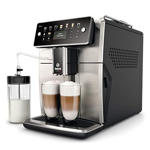 Saeco SM7583/00 Xelsis Kaffeevollautomat 12 Kaffeespezialitäten (LED-Display mit Direktwahltasten, 6 Benutzerprofile), Edelstahl
