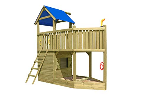 Gartenpirat Spielturm Piratenschiff Spielhaus aus Holz