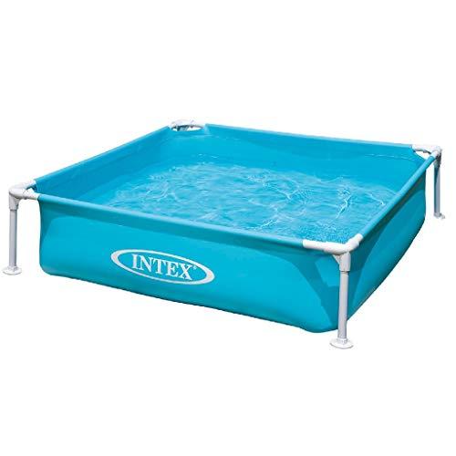 Intex Kinderpool Frame Pool Mini, Blau, 122 x 122 x 30 cm