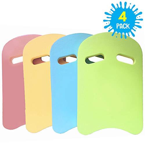 4 Stück Schwimmen Kickboards Schwimmbrett in Leuchtenden Farben| Premium Qualität EVA Schaum |Wassersport, Training, Schwimmhilfe für Erwachsene & Kinder