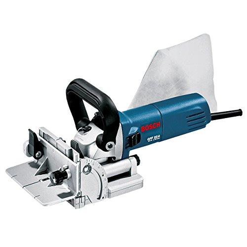 Bosch Professional GFF 22 A, 670 W Nennaufnahmeleistung, 9.000 min-1 Leerlaufdrehzahl, 22 mm Schnitttiefe, Zweilochschlüssel, HM-Scheibenfräse, L-BOXX