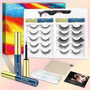 SIYEEUN Magnetische Wimpern mit Eyeliner set 10 Paar mit 2 Tuben Magnetic Eyeliner