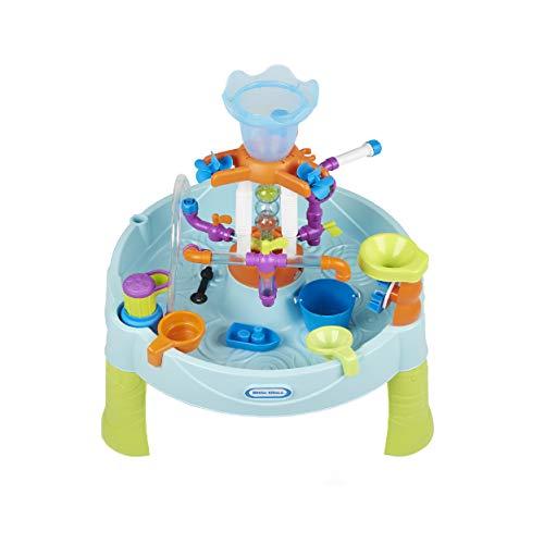 little tikes 6666M Flowin' Fun Robuster Wasserspieltisch mit austauschbaren Elementen, Springenbrunnen und Zubehör