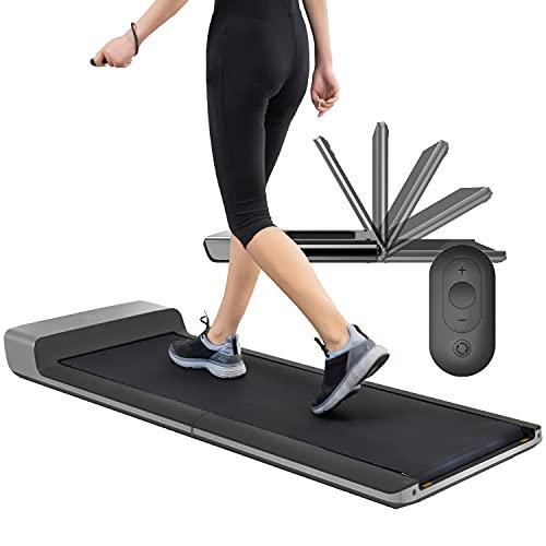 skandika Walking Pad   Laufband bis 6km/h, klappbar, Adaptive Speedcontrol, breite Lauffläche, Transportrollen   für Büro oder Zuhause, Laufband für Schreibtisch