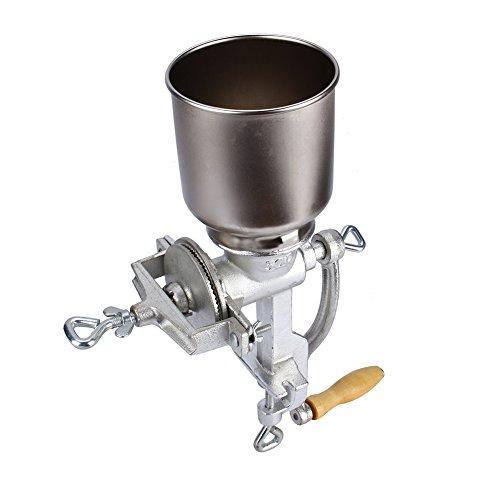 Kaffeemühlen, Manuelle Getreidemühle Nussmühle Handmühle Mohnmühle Schrotmühle Küchenmühle Getreidequetsche Handgetreidemühle Einstellbare Mahlwerk für mais weizen sogar kaffee,43cm * 28cm * 16cm