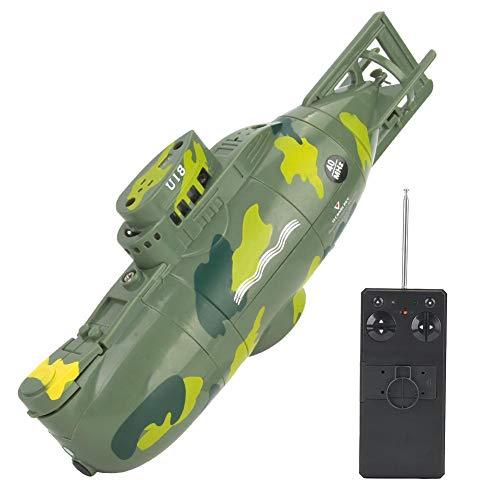 Dilwe U-Boot-Spielzeug, Mini-Simulation Military Remote Control 6-Kanal-U-Boot für Kinder über 8 Jahre alt(Grün)