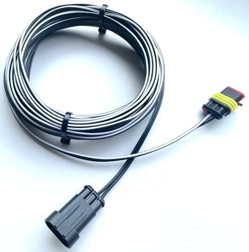 Niederspannungskabel für GARDENA ROBOTIC smart SILENO – CITY 250 500 1000 – LIFE 750 100 1250 – MINIMO 250 500 Mähroboter Verbindungskabel für Transformator Netzteil und Ladestation – (10 meter)