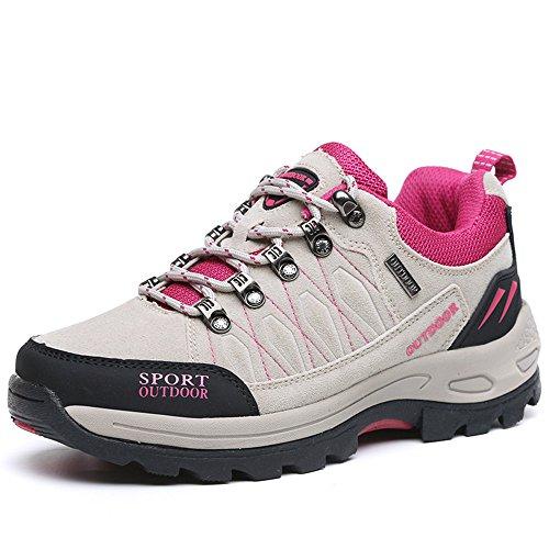 NEOKER Wanderschuhe Trekking Schuhe Herren Damen Sports Outdoor Hiking Sneaker Grau 40