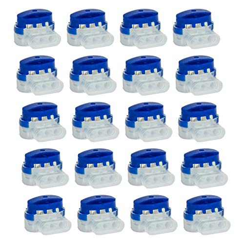lohag® 20 Kabelverbinder in praktischer Box + 1m Begrenzungskabel inkl. Reparaturset - wasserdichte Verbindungsklemmen mit Gelfüllung - Kompatibel für Bosch, Gardena, Husqvarna, Worx, Yard Force