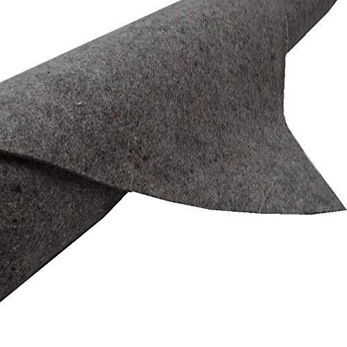TeichVision - Teichvlies Teichschutzvlies Schutzvlies Poolvlies für Teich Vlies 300 g/m² 4 m x 2 m, grau