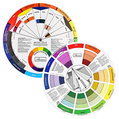 JimKing Farbrad, Taschengröße, Farbmischer, Lernleitfaden für Kunstunterricht, Lehrwerkzeug für Make-up, Mischtafel