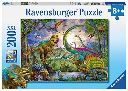 Ravensburger Kinderpuzzle - 12718 Im Reich der Giganten - Dinosaurier-Puzzle für Kinder ab 8 Jahren, mit 200 Teilen im XXL-Format