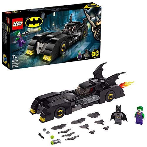 LEGO 76119 DC Batman Batmobile: Verfolgungsjagd mit dem Joker, klassisches Batmobil Automodell, Super Heroes Spielzeuge