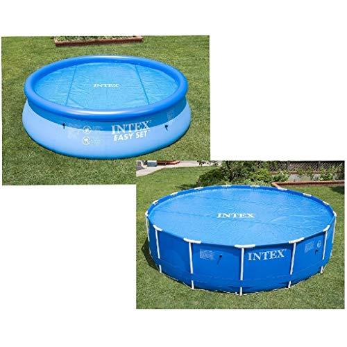 Intex Solarabdeckplane für Easy & Frame Pool Ø 366 cm, Stärke 120 Mikron, Fertigungsmaß: ca. Ø 348 cm, 29022