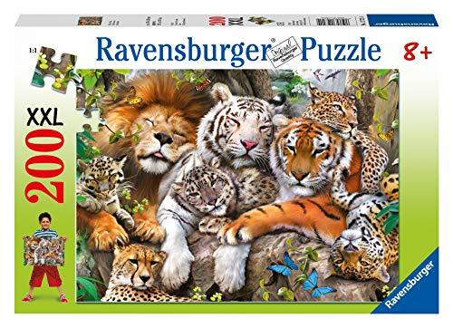 Ravensburger Kinderpuzzle 12721 - Schmusende Raubkatzen - 200 Teile