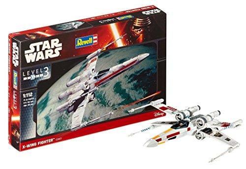 Revell Modellbausatz Star Wars X-Wing Fighter im Maßstab 1:112, Level 3, originalgetreue Nachbildung mit vielen Details, einfaches Kleben und Bemalen, 03601