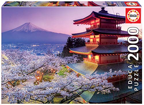 Educa 2000 Teile, Japan. 16775 Mount Fuji, Japonia, Puzzle, Multicolour