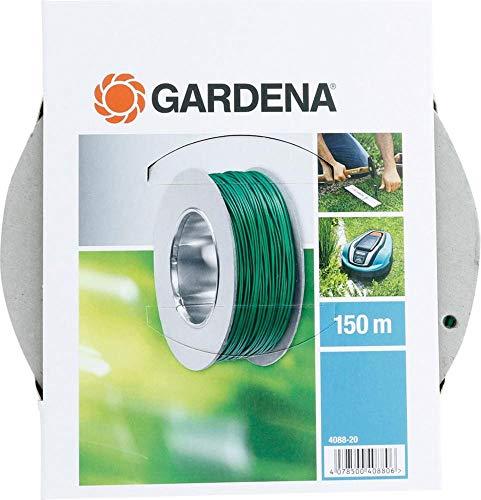 Gardena Begrenzungskabel (150 m): Robuster Begrenzungsdraht für Gardena Mähroboter, Kabel fungiert als Leitkabel für den Mähroboter, einsetzbar für alle Gardena Mähroboter (4088-20)