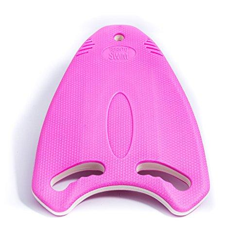 BornToSwim Robust Multi-Schwimmbrett Trainingshilfe Kickboard, Rosa/Weiß, 40 x 30 x 3 cm