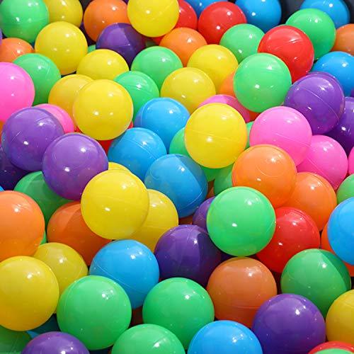 PowerKing Ball Pit Balls, BPA Free Plastikspielzeugball für Kinder, Ideal für Bällebäder, Spielzelt, Baby Pool Wasserspielzeug, - 50 Stück 7 cm Plastikball, Partydekoration (Mehrfarbig)