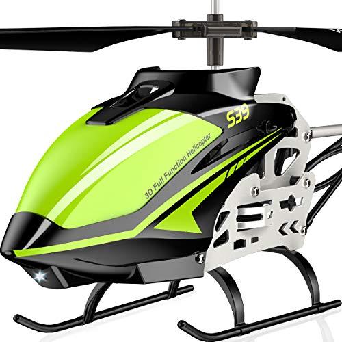 SYMA ferngesteuert Helikopter Hubschrauber RC Fernbedienung Helicopter Indoor Outdoor Flugzeug Geschenk Kinder S39 3.5 Kanal 2.4 Ghz LED Leucht Gyro Rot
