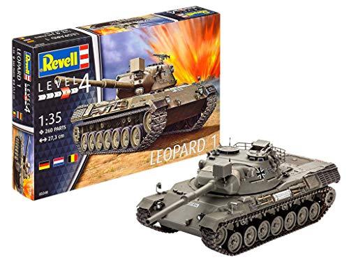 Revell Modellbausatz Panzer 1:35 - LEOPARD 1 im Maßstab 1:35, Level 4, originalgetreue Nachbildung mit vielen Details, 03240